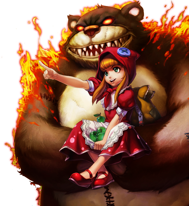 Red-Hat Annie with Tibbers skin PNG Image