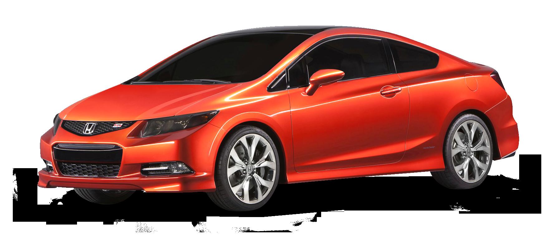 Red Honda Civic Car PNG Image
