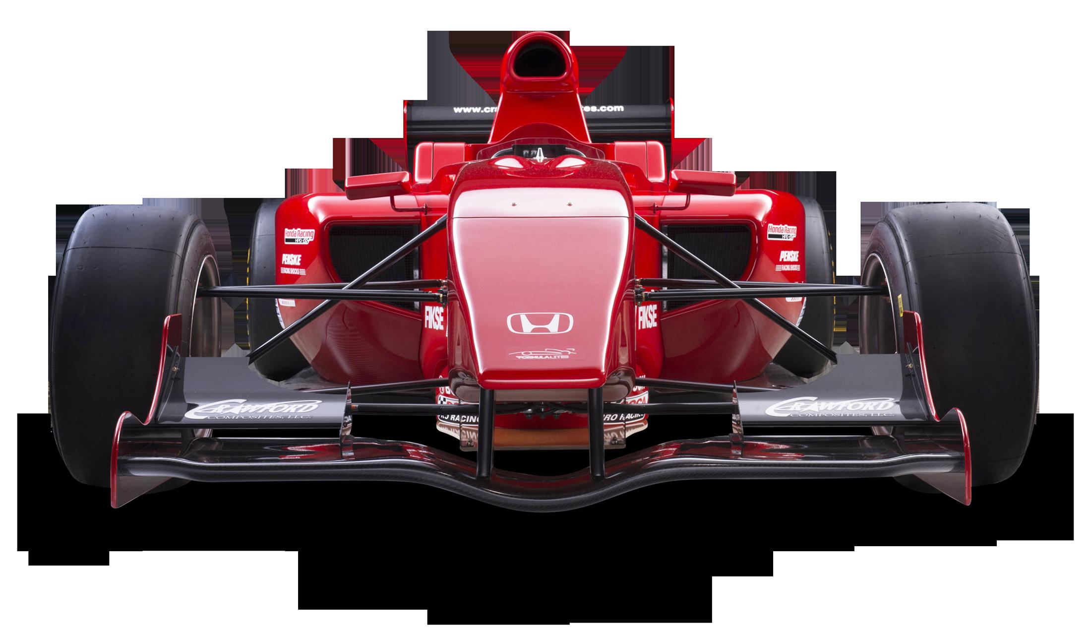 Red Honda Formula Lite Car PNG Image