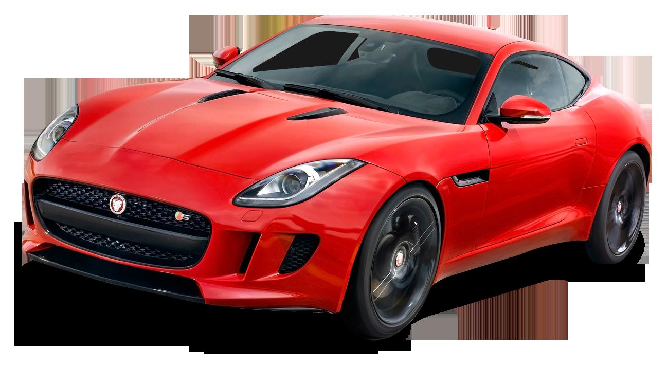 Red Jaguar F Type Coupe Car PNG Image