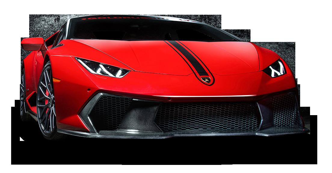 Red Lamborghini Huracan Car PNG Image