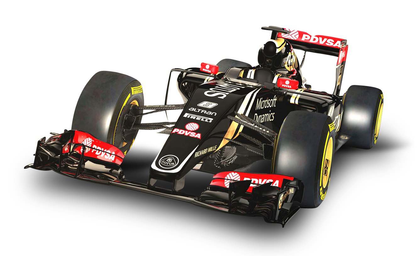 Red Lotus E23 F1 Car PNG Image