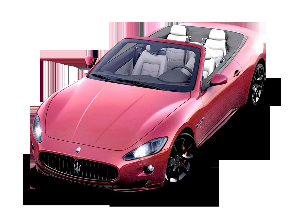 Red Maserati GranCarbio Sport Car PNG Image