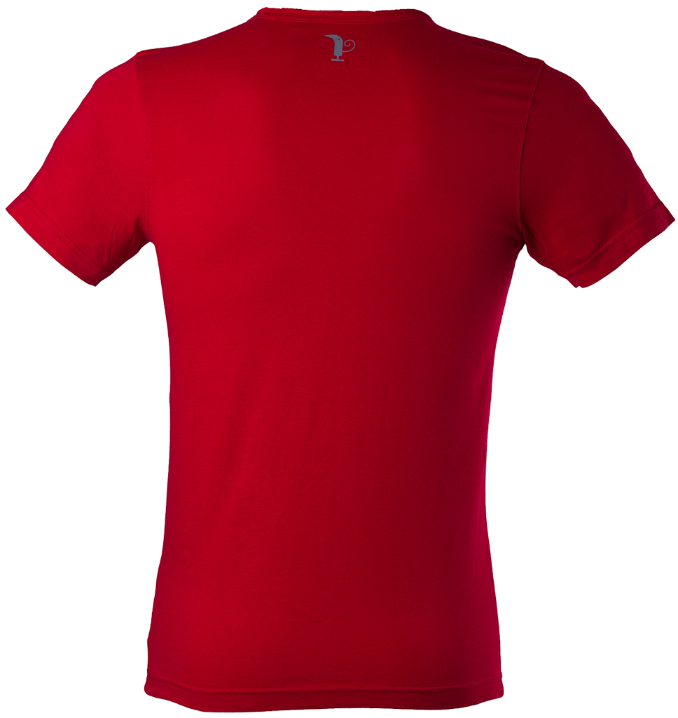 Red Men's Polo Shirt PNG Image