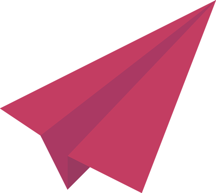 Red Paper Plane PNG Image