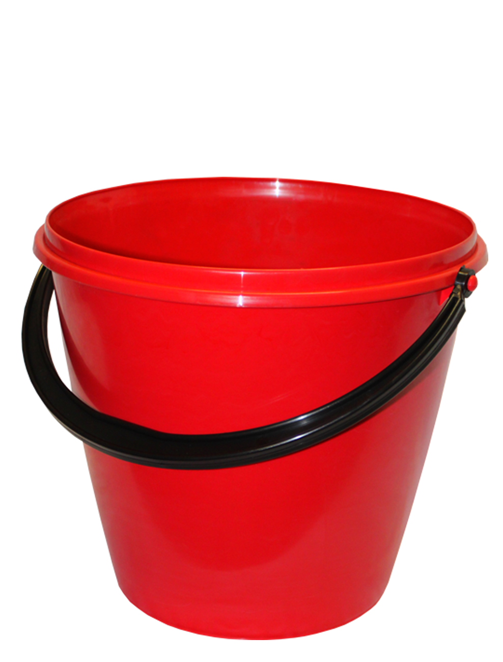Red PLastic Bucket PNG Image