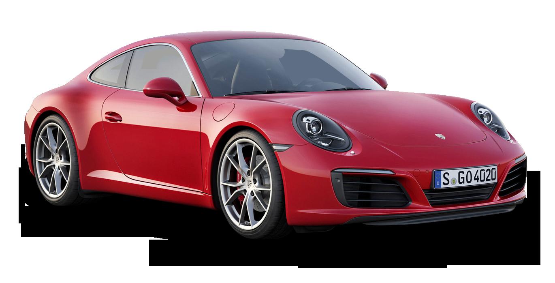 Red Porsche 911 Carrera Car PNG Image