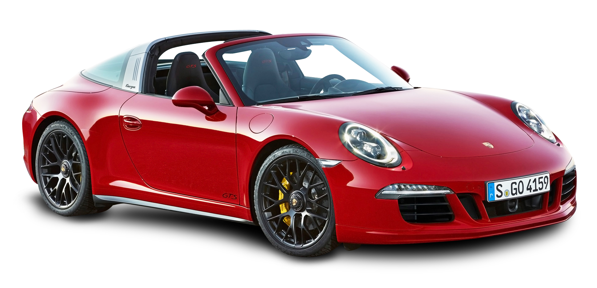 Red Porsche 911 Targa 4 GTS Car PNG Image