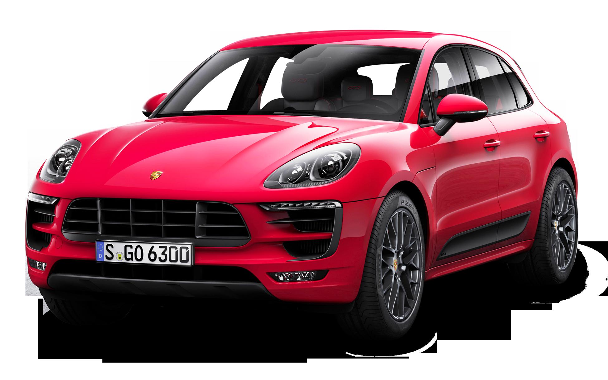 Red Porsche Macan GTS Car