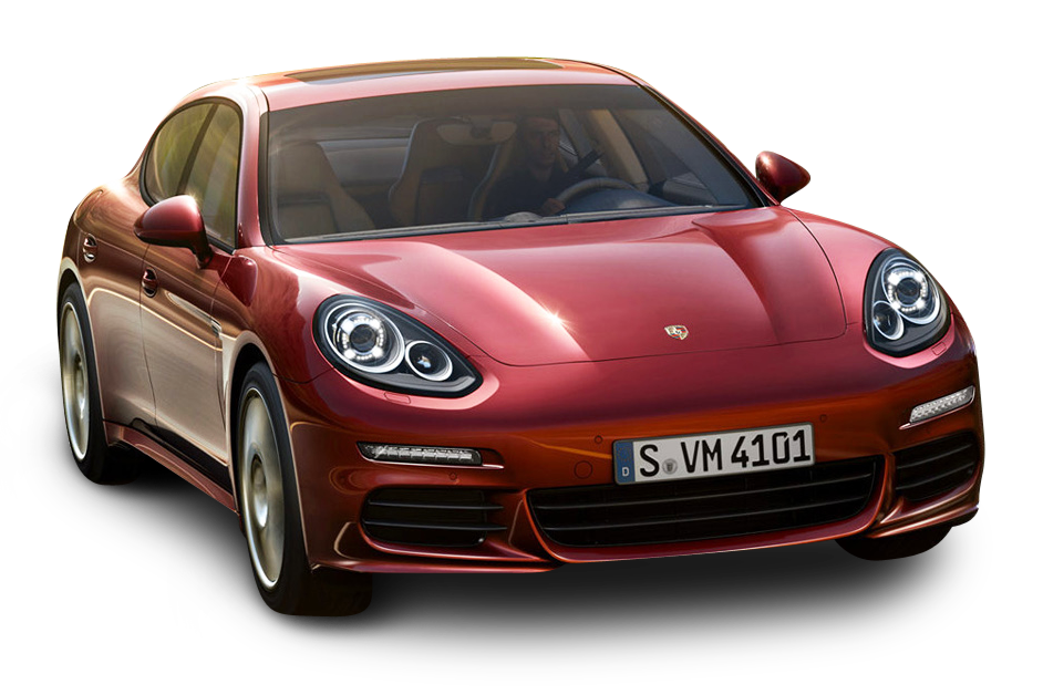 Red Porsche Panamera Car