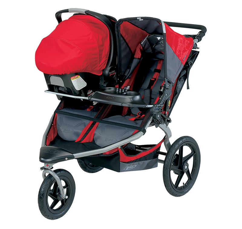 Red Pram Baby PNG Image