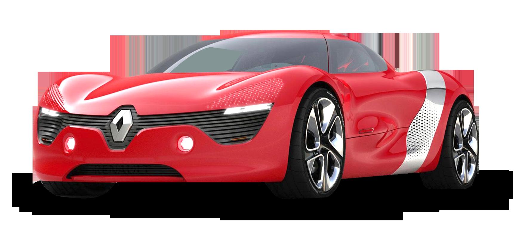 Red Renault DeZir Car PNG Image
