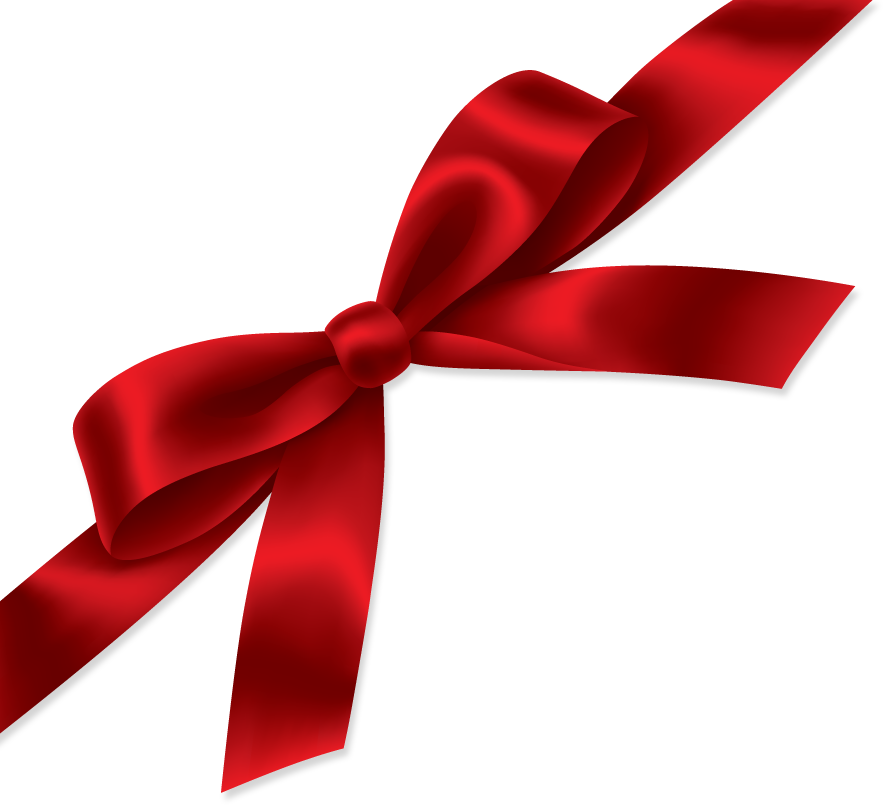Red Bow for Presents PNG Image