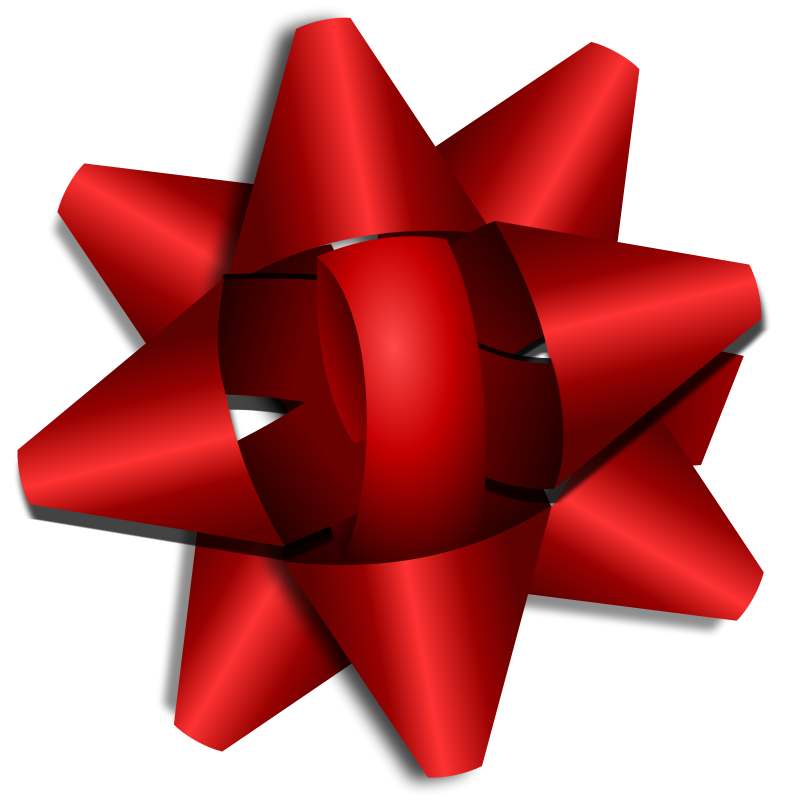 Red Present Knot PNG Image