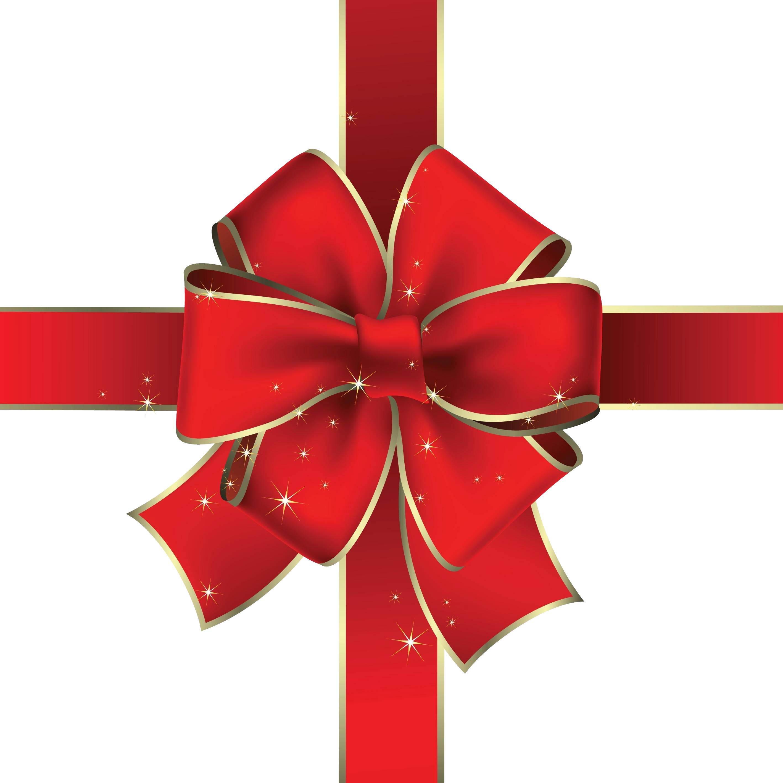 Red Christmas Ribbon PNG Image