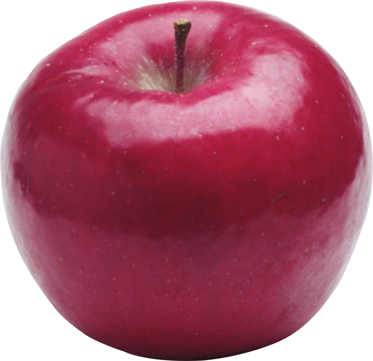 Red Round Apple PNG Image