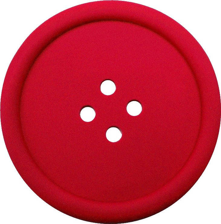 Red Sewing Button With 4 Hole
