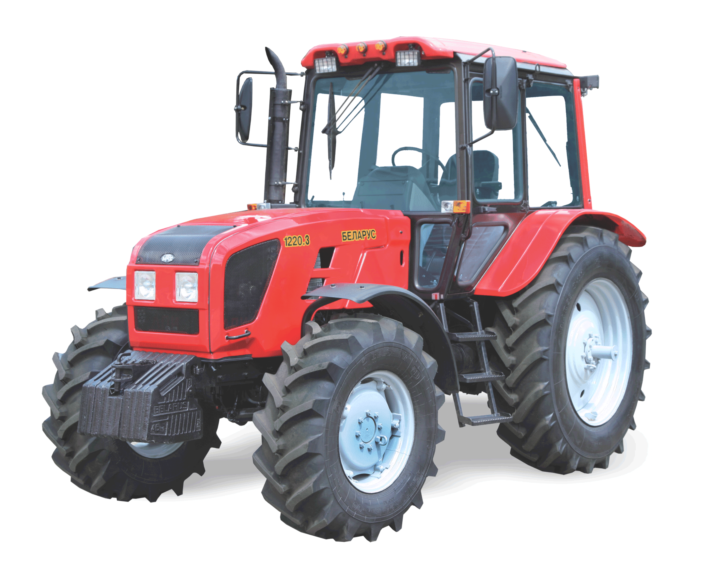 Red Tractor PNG Image