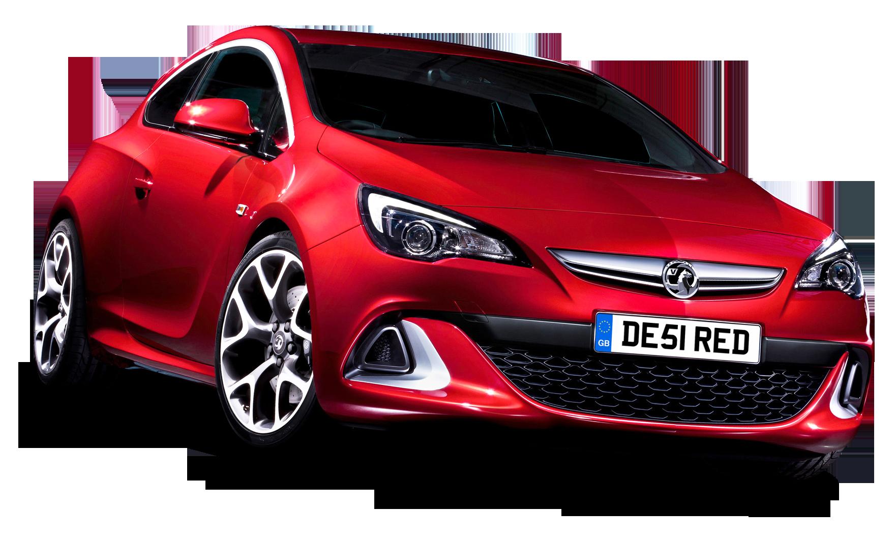 Red Vauxhall Astra VXR Car