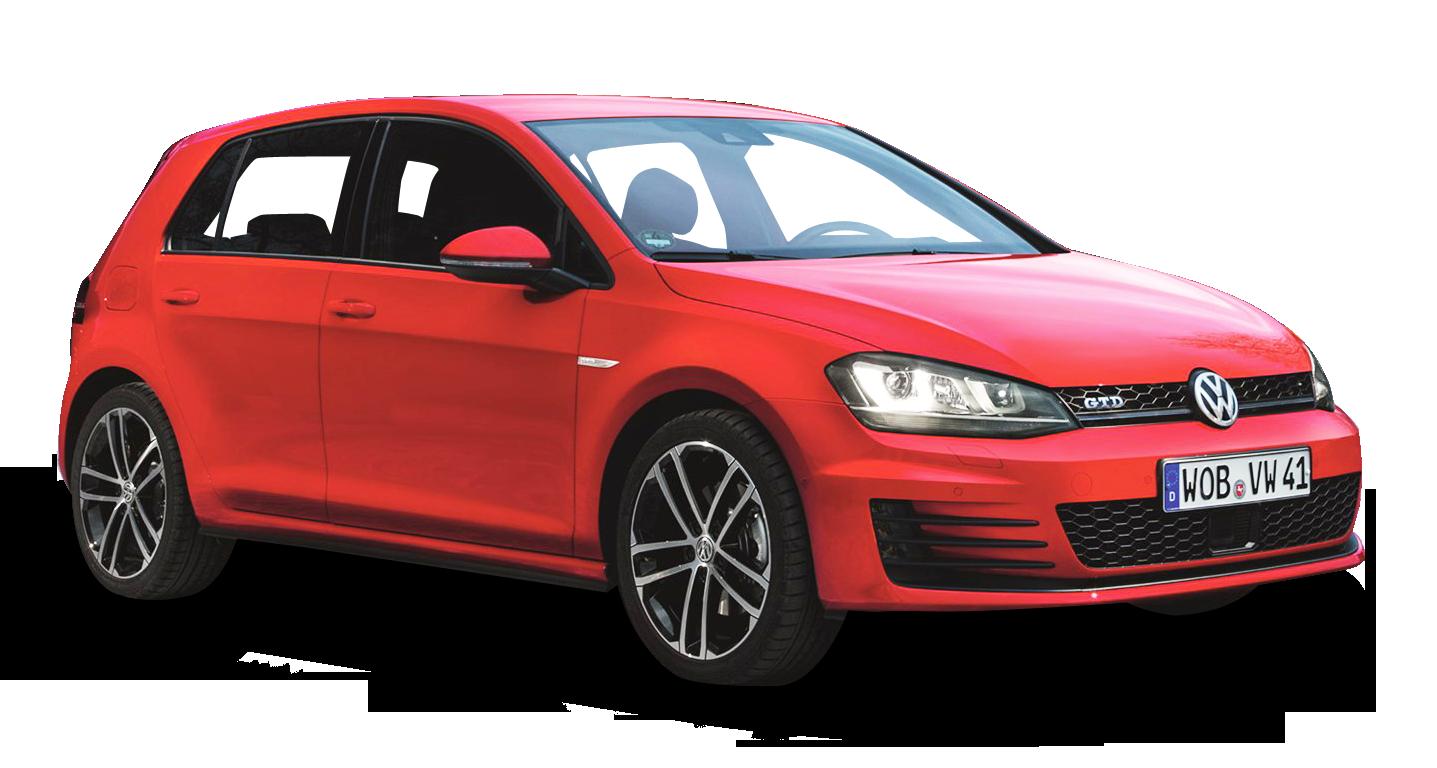 Red Volkswagen Golf GTD Car