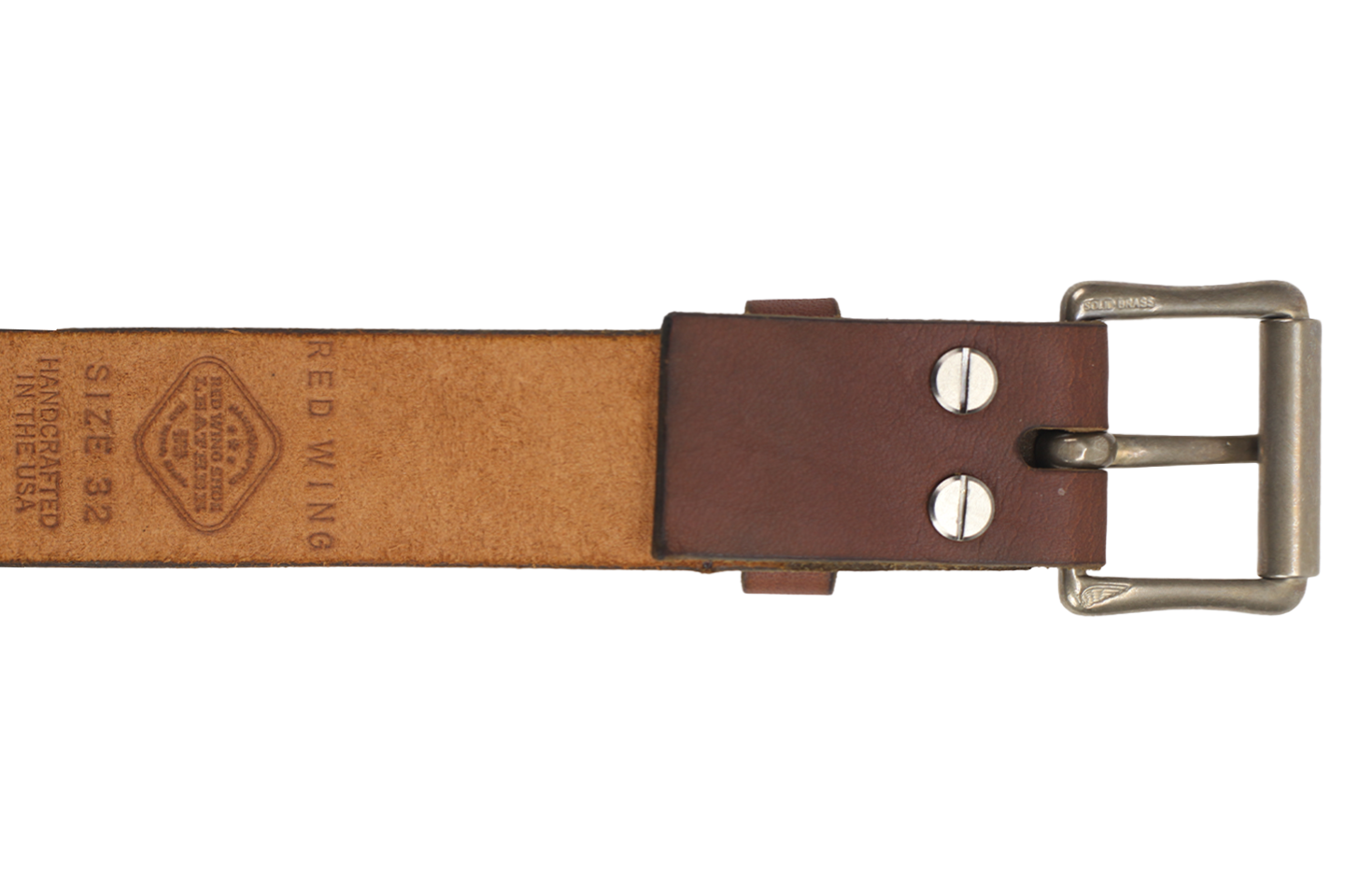 Red Wing Shoes Belt Oro Legacy Pioneer Buckle PNG Image
