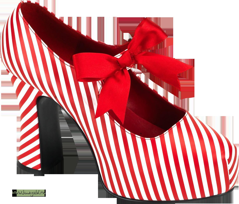 Red Women Shoe PNG Image