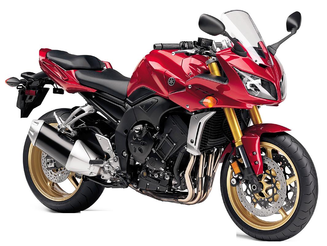 Red Yamaha FZ1 PNG Image