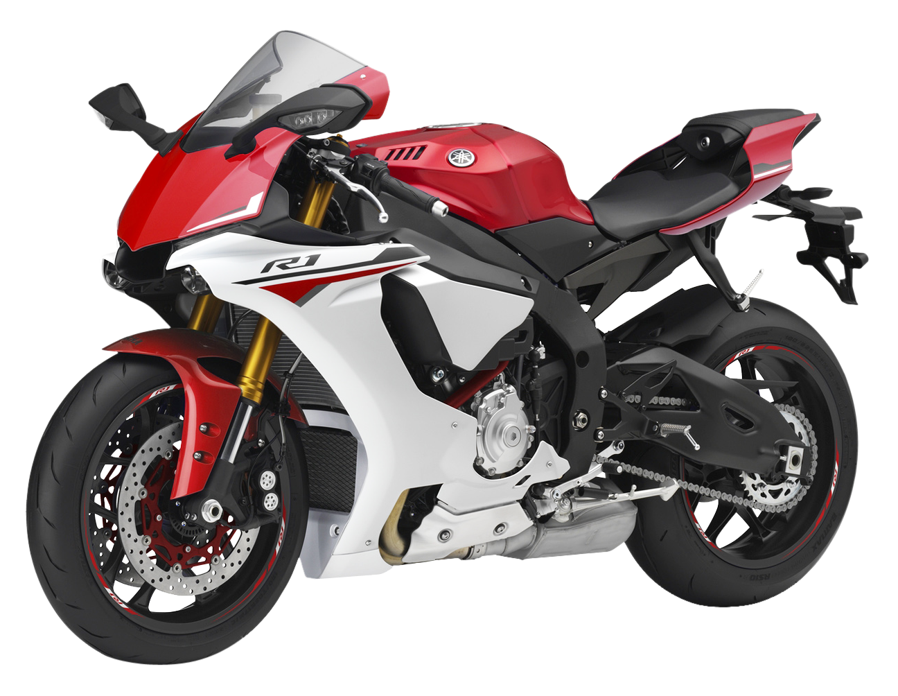 Red Yamaha YZF R1 PNG Image