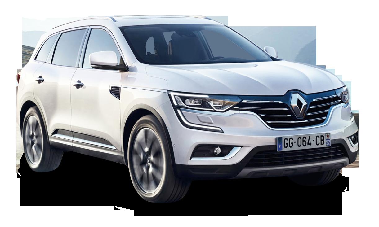 Renault Koleos White Car PNG Image