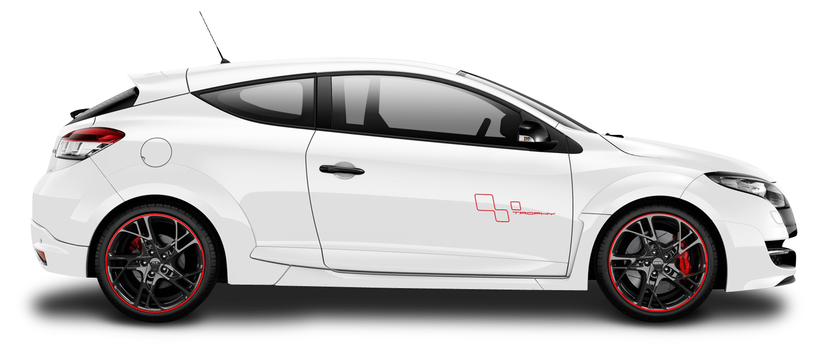 Renault Megane RS Trophy White Car PNG Image