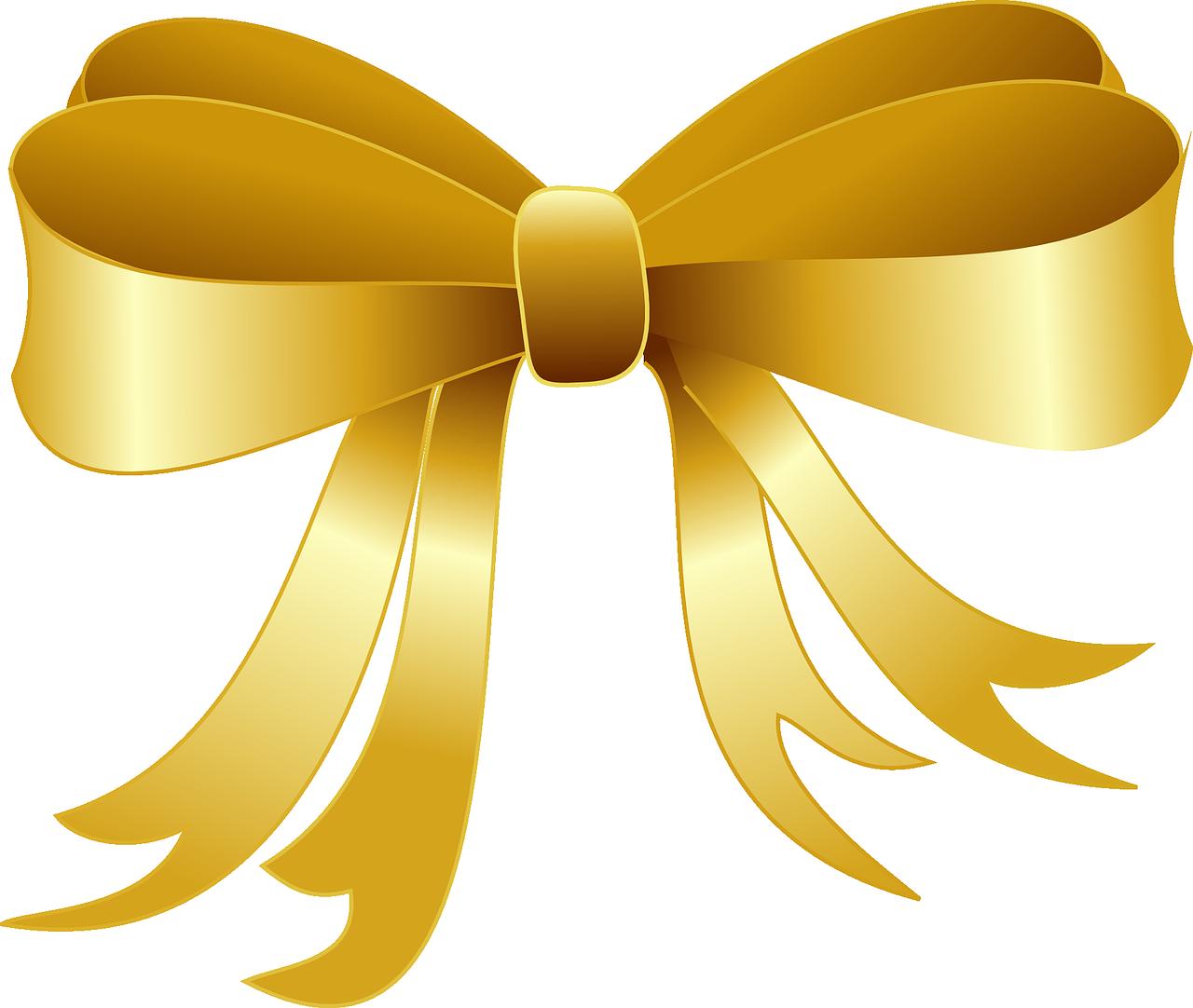 Golden Ribbon PNG Image