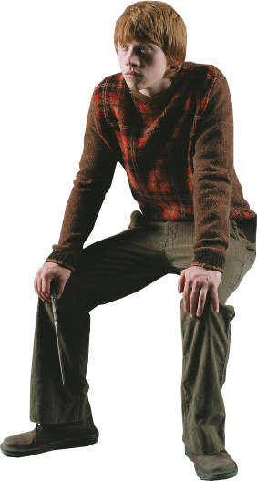 Ron Weasely Sitting PNG Image