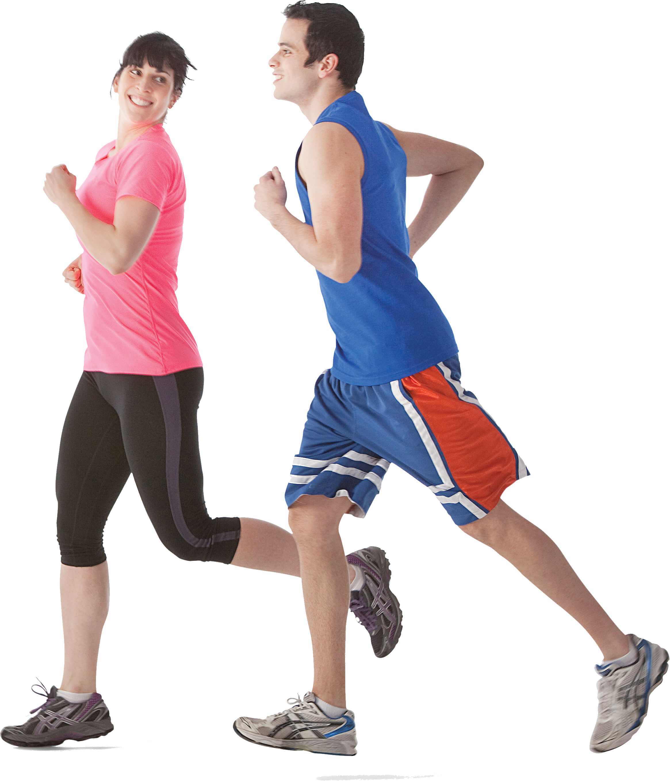 Running Man And Women PNG Image