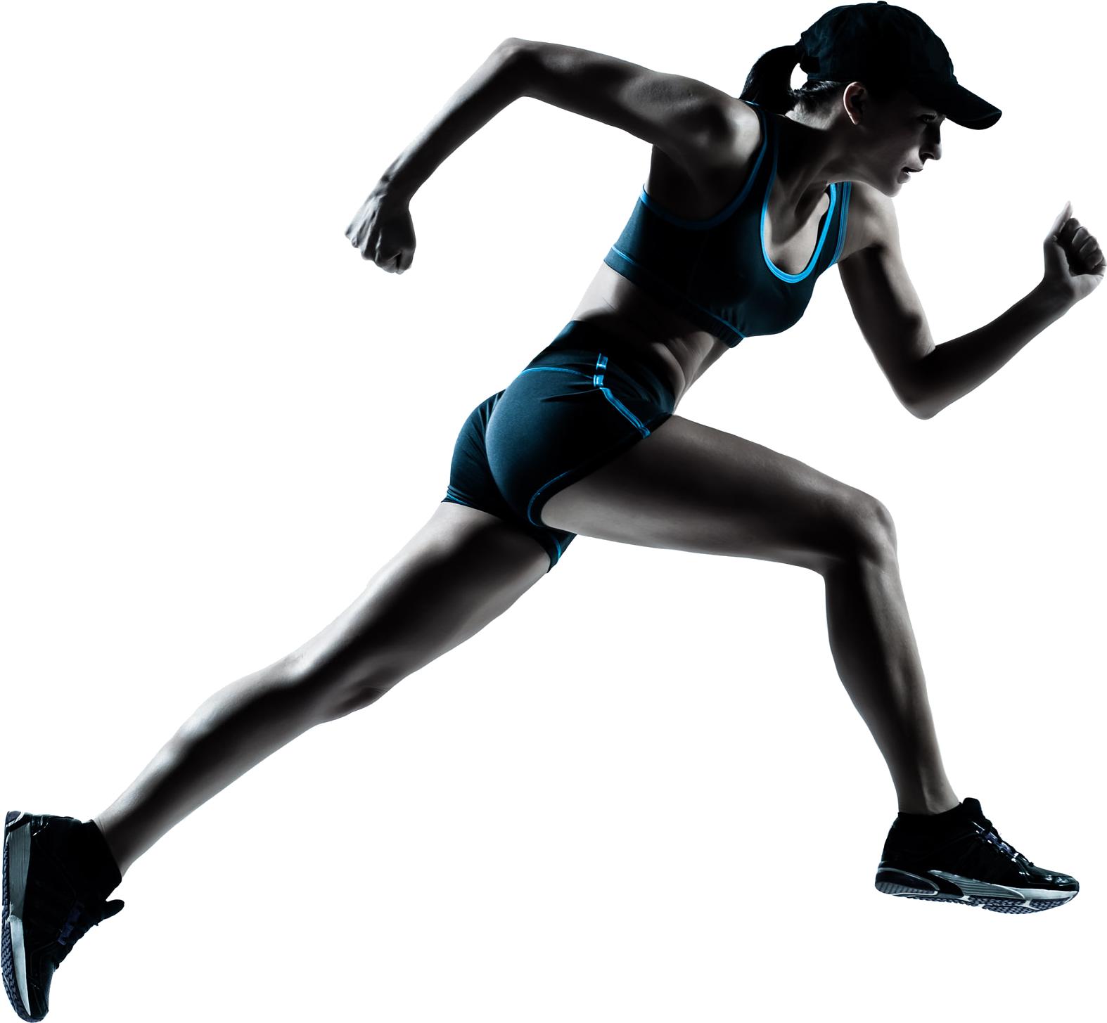 Running Women PNG Image