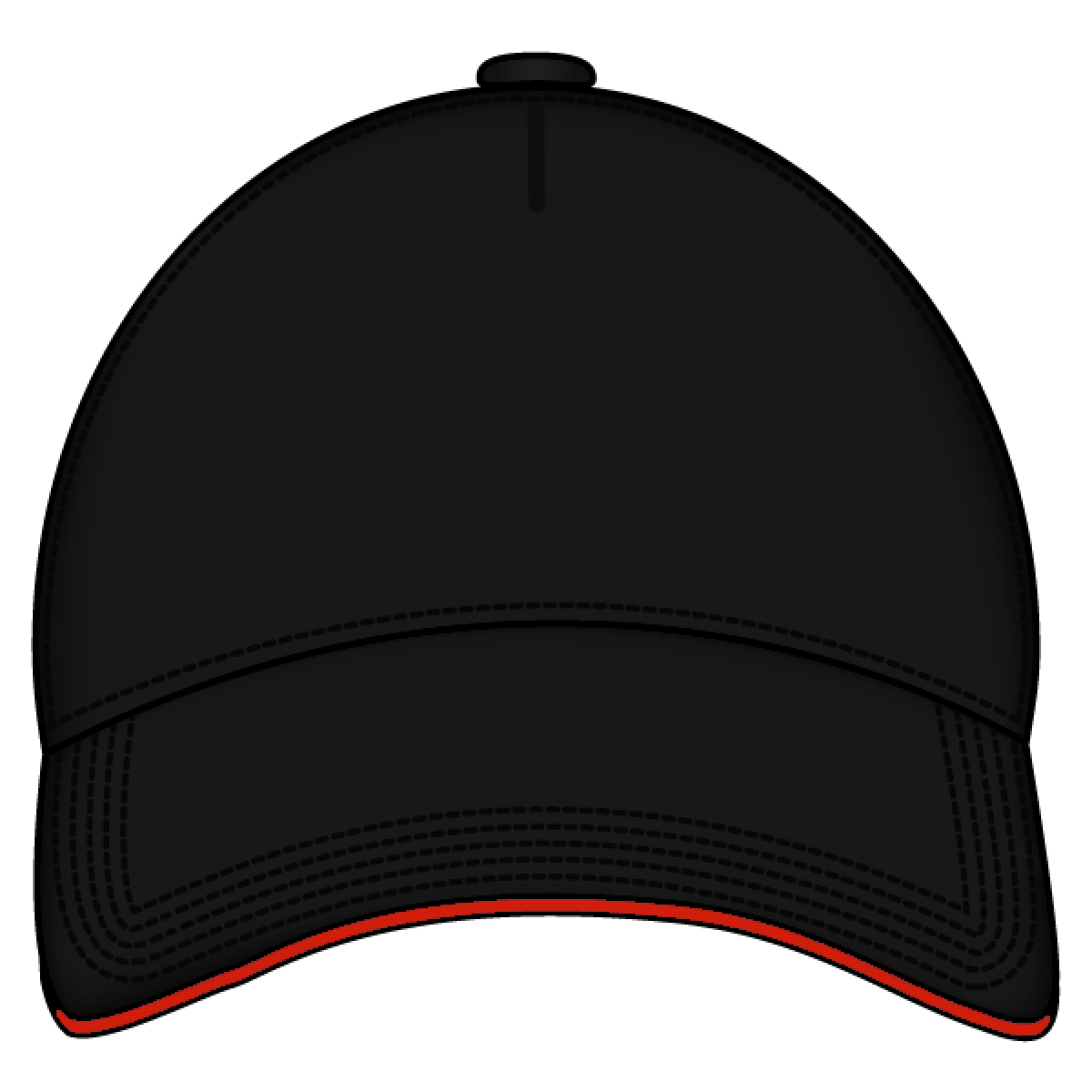 Sandwich Cap Black And Red