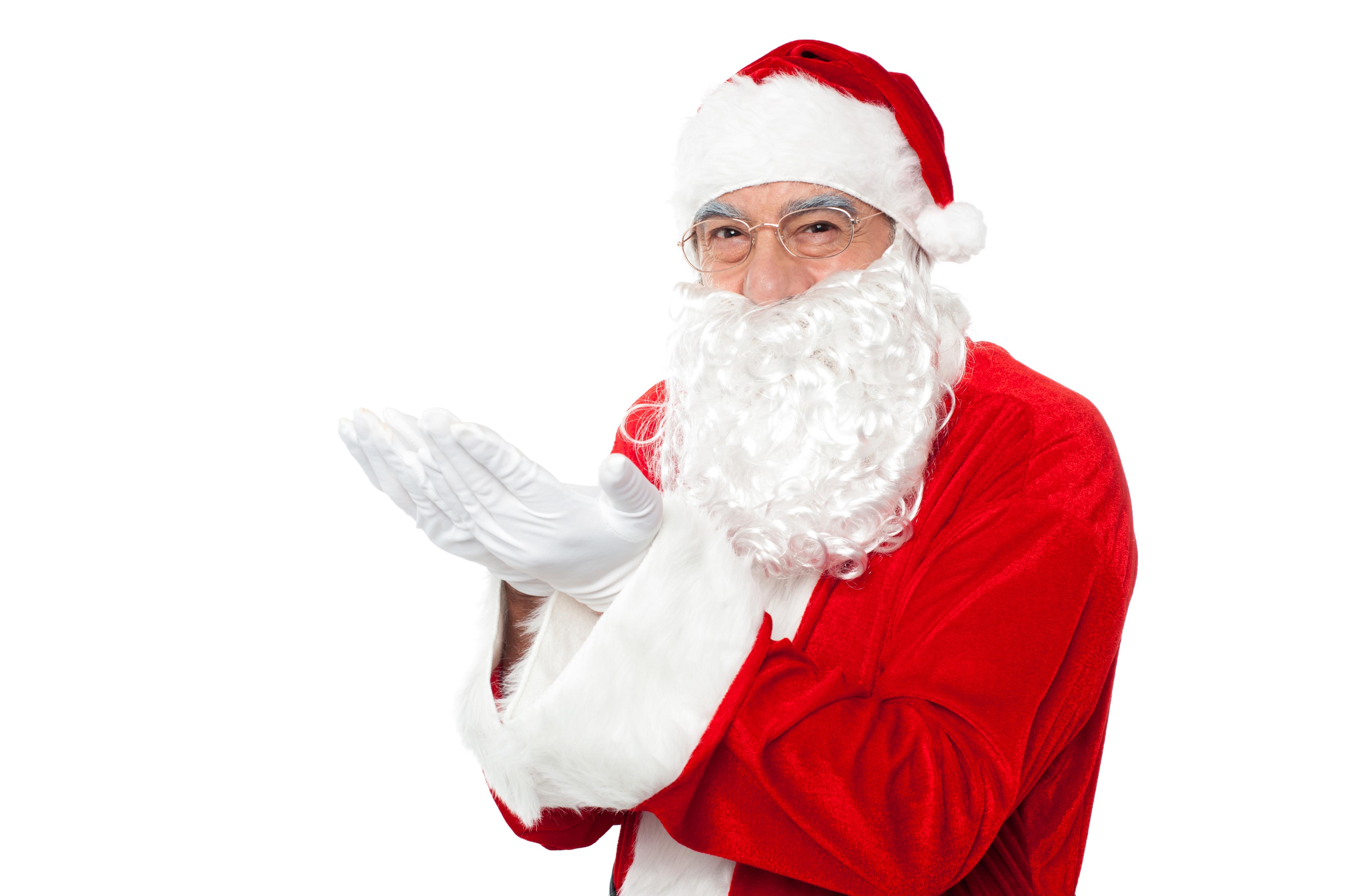 Santa Claus Holding Hands Left PNG Image