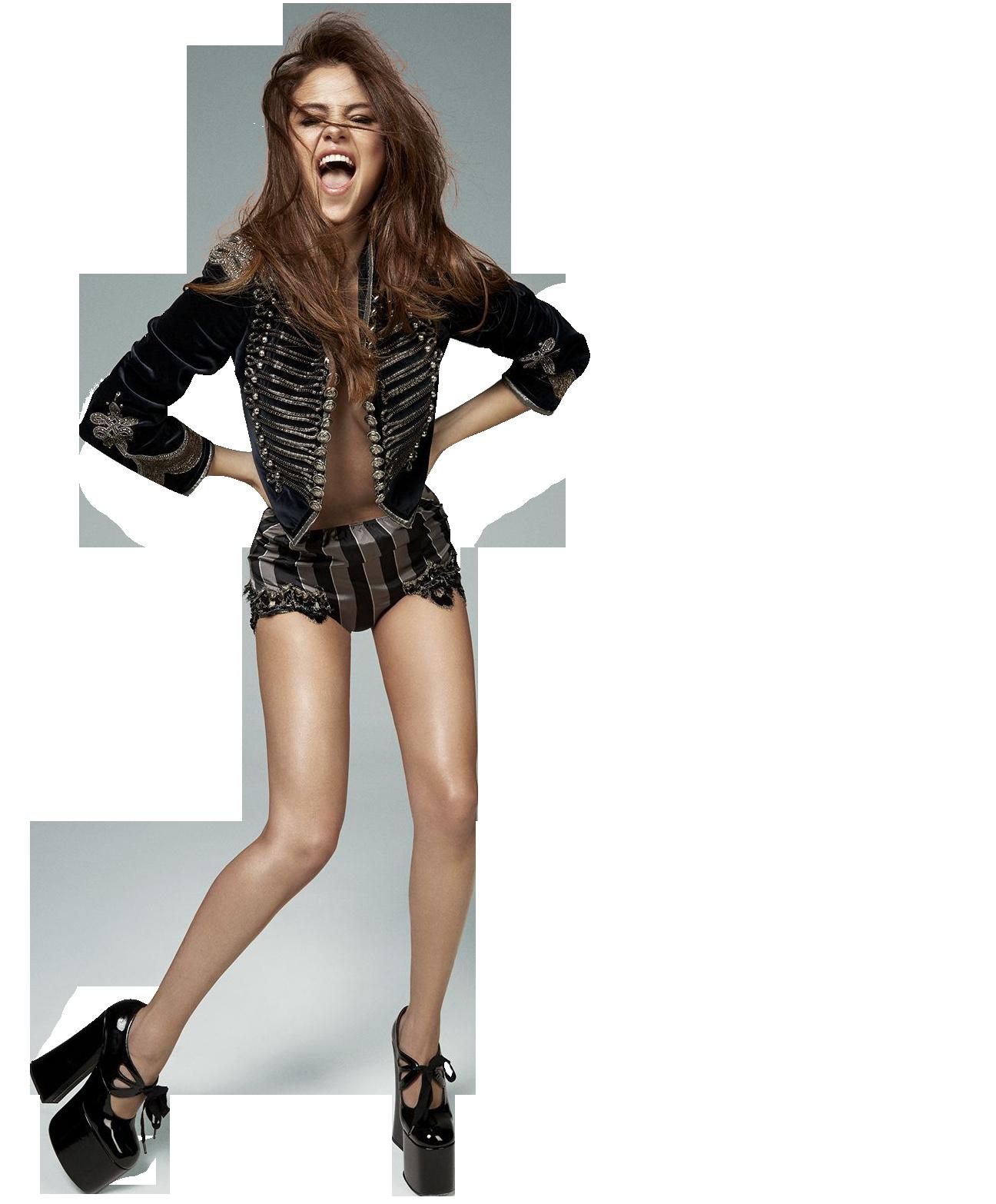 Selena Gomez In Shorts PNG Image