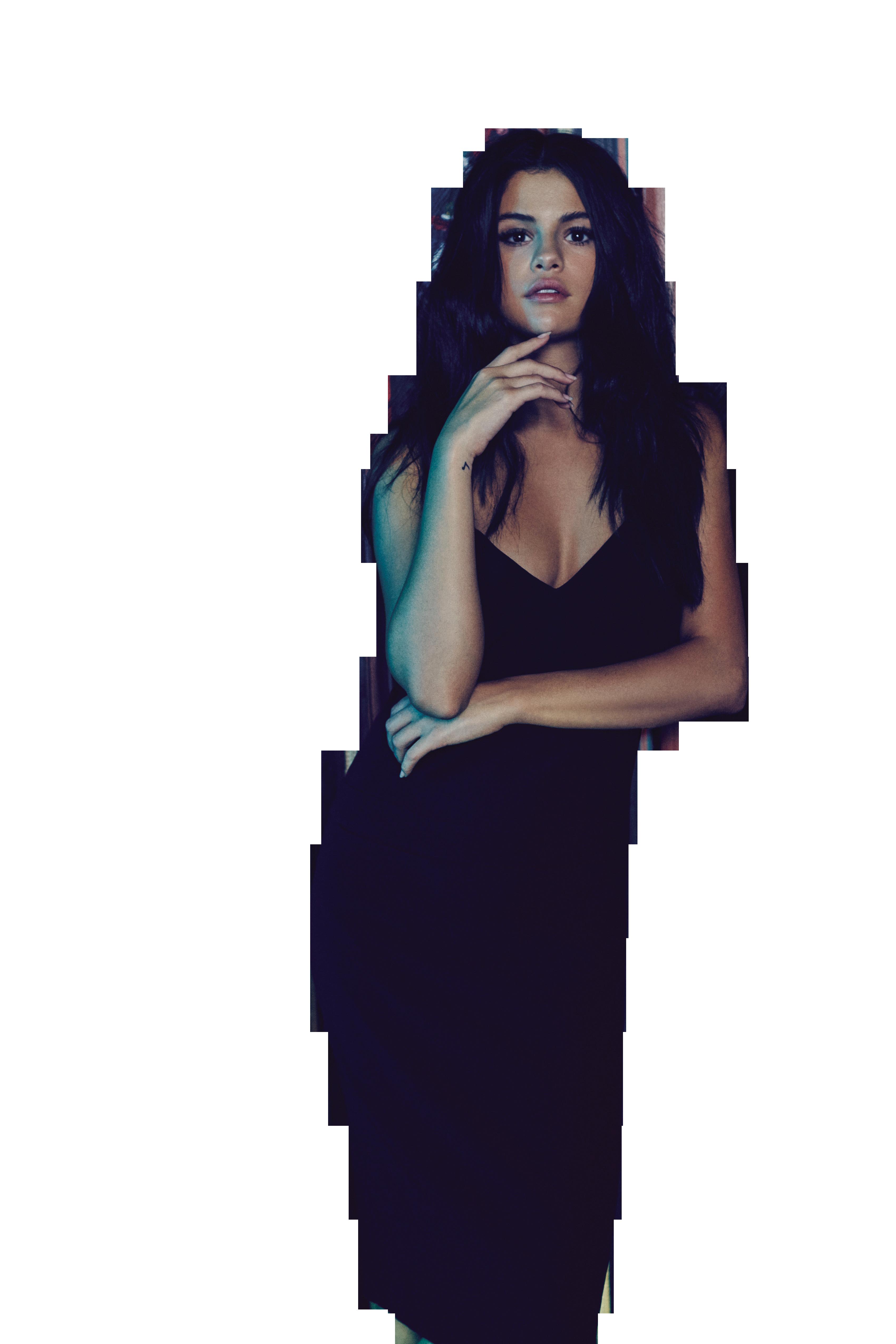 Selena Gomez Looking Attractive PNG Image