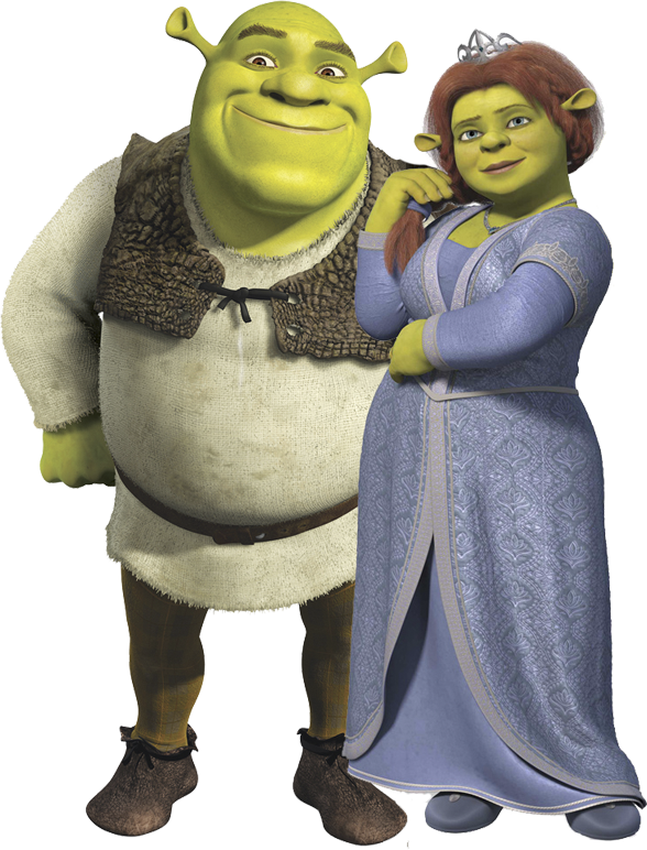 Shrek And Fiona PNG Image