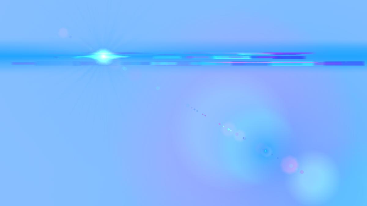 Side Blue Lens Flare