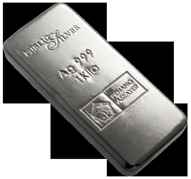 Silver Bar PNG Image