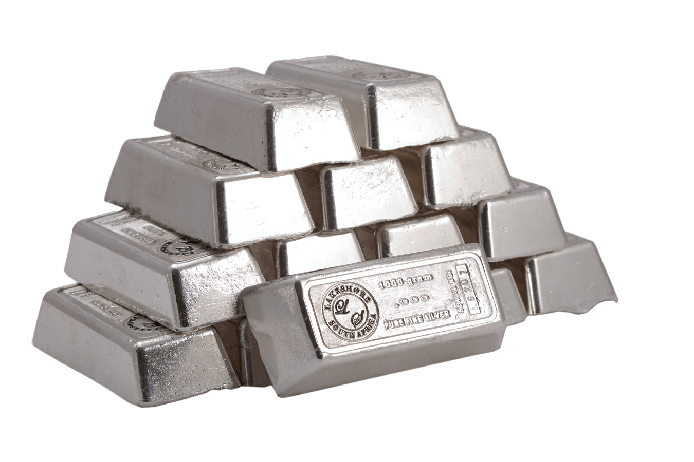 Silver Bars PNG Image