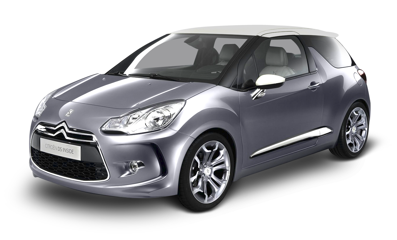 Silver Citroen DS Car PNG Image