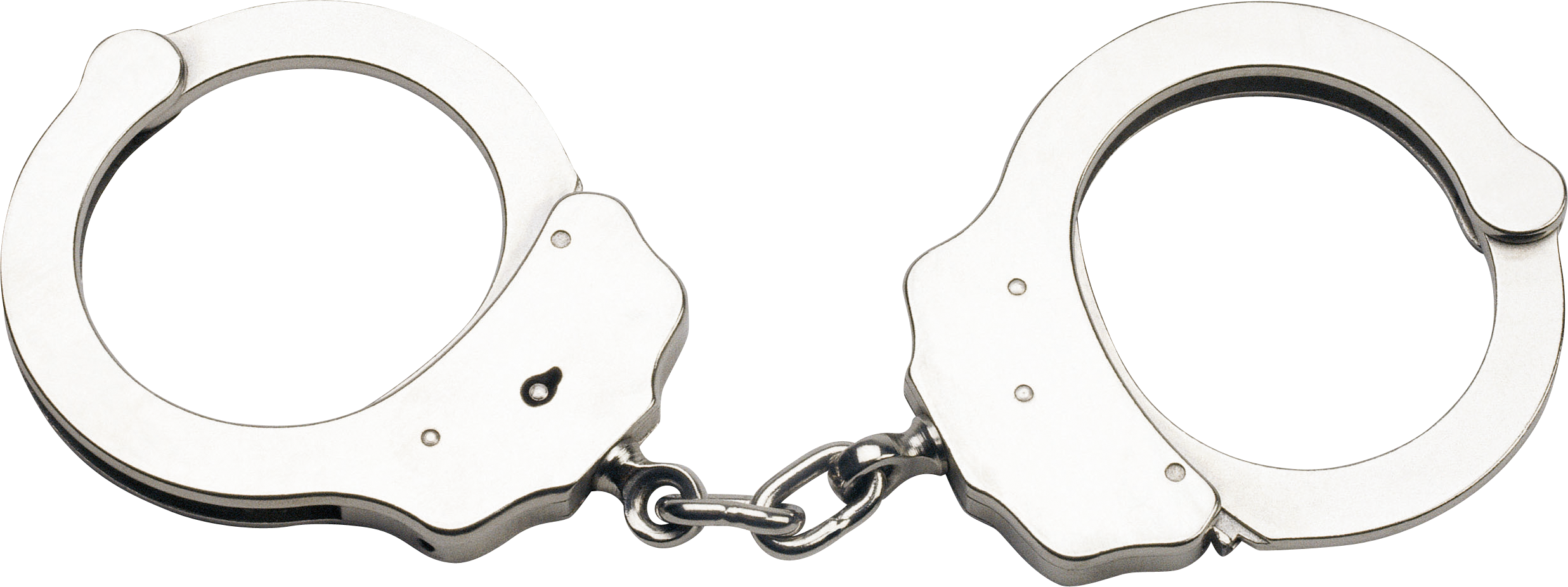 Silver Handcuff PNG Image