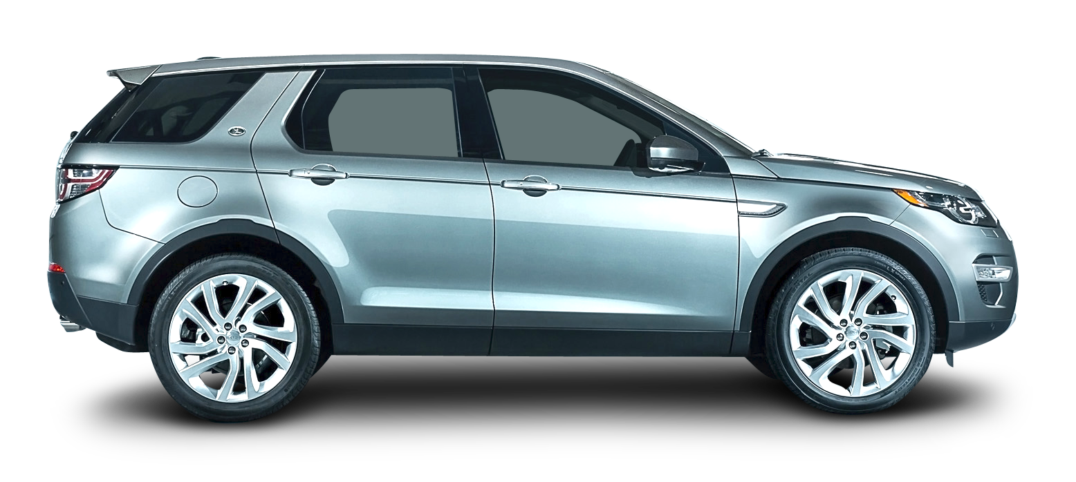 Luxury Vehicle: Silver Land Rover Discovery Car Side PNG Image