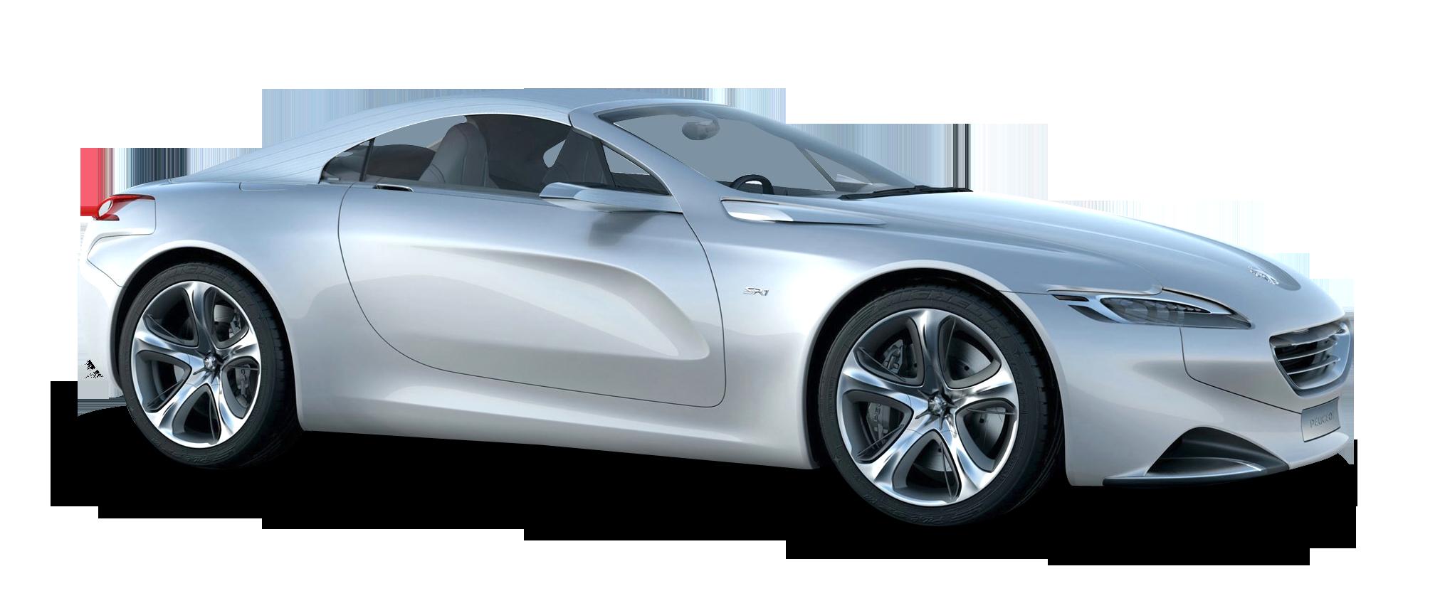 Silver Peugeot SR1 Car PNG Image