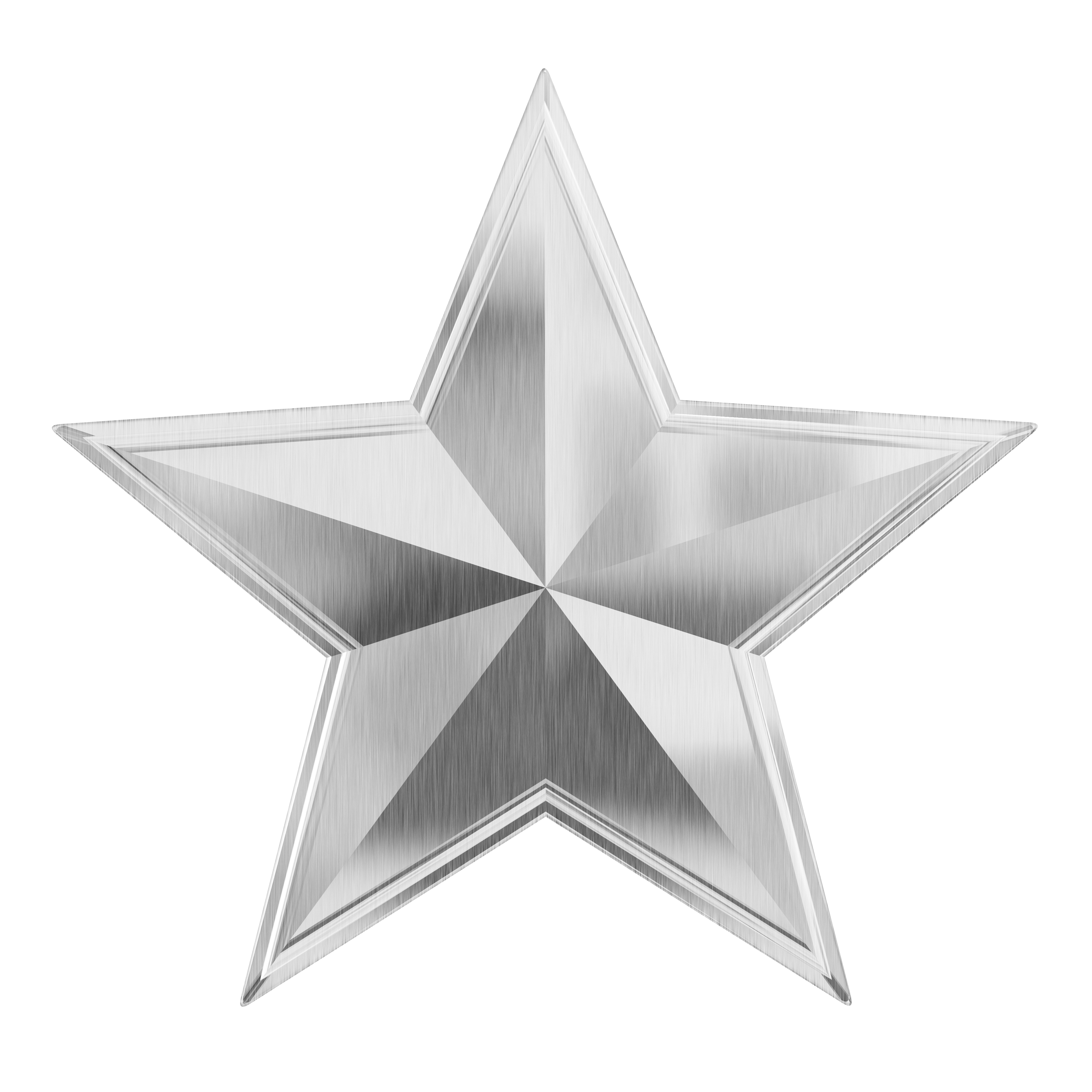 Silver Festive Christmas Star PNG Image