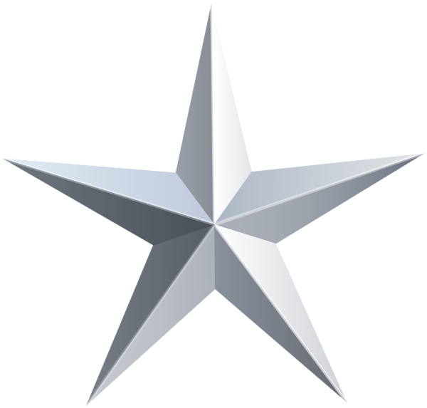 Silver Star PNG Image