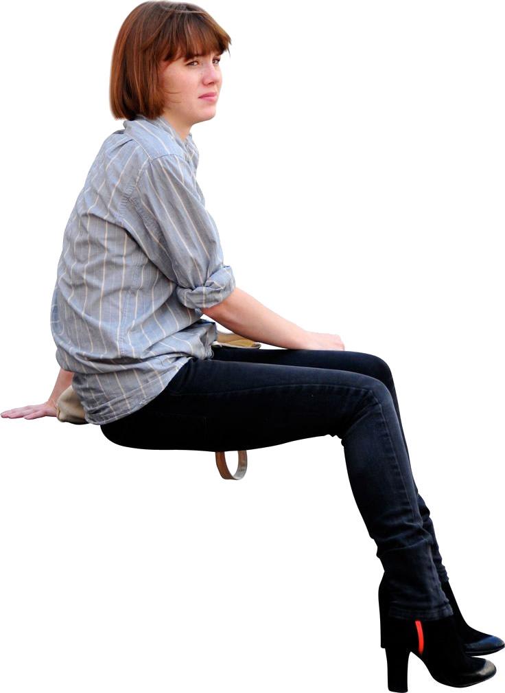 Sitting Women PNG Image