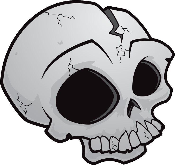 Skull PNG Clipart Image   Gallery Yopriceville - High ...  Transparent Skull Clipart